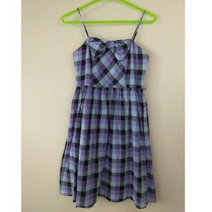 Kensie Girl size S plaid spaghetti strap dress